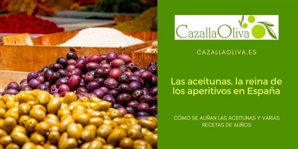 La aceituna aliñada: la reina del aperitivo en España