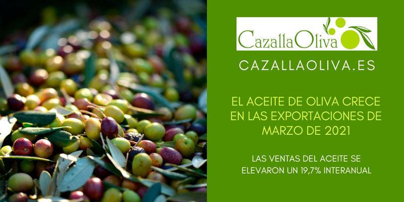 recuperacion del aceite de oliva en el mes de marzo de 2021