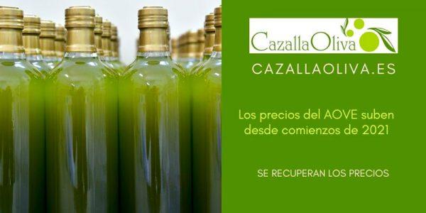 Los precios del Aceite de Oliva Virgen Extra suben desde comienzos de 2021