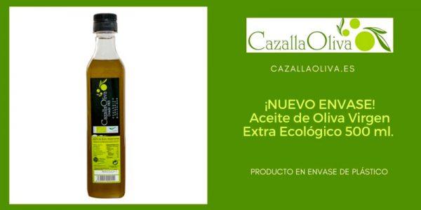 Nuevo producto en envase de plástico: Aceite de Oliva Virgen Extra Ecológico 0,5 litros
