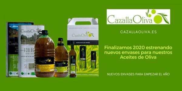 Finalizamos 2020 estrenando nuevos envases para nuestros Aceites de Oliva