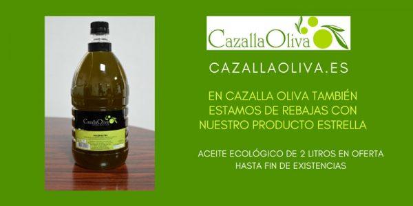 Oferta de Aceite de Oliva Ecológico 2 litros hasta fin de existencias