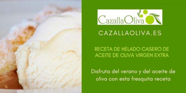 Helado casero de Aceite de Oliva